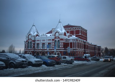 SAMARA - 6 DECEMBER 2018:  Old building of revolutionary time in Samara