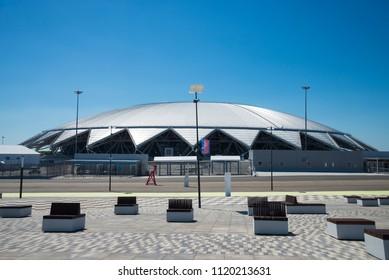 Samara Arena football stadium. Samara - the city hosting the FIFA World Cup in Russia in 2018. 23 June 2018