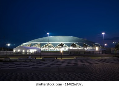 Samara Arena football stadium. Samara - the city hosting the FIFA World Cup in Russia in 2018. The evening of 2 August 2018