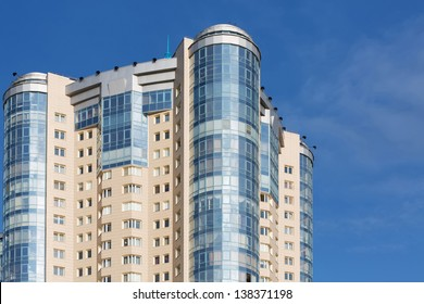 SAMARA - MAY 6: Residential complex Rook on May 6, 2012 in Samara, Russia. Complex was built by a group of companies Volgatransstroy on 2004 in the heart of the city of Samara on the Volga river.