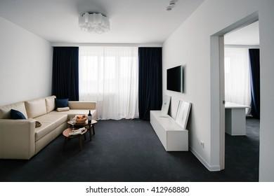 SAMARA, RUSSIA, 12 DECEMBER 2015 - Room of the brand new Lada Resort Hotel