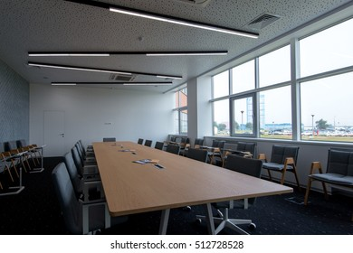 SAMARA, RUSSIA, 12 july 2015 - Empty conference room of Lada technical centre
