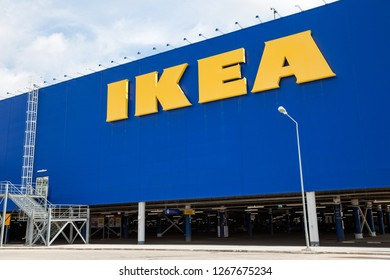 SAMARA, RUSSIA - July 13, 2016: Samara IKEA store. IKEA is the world's largest furniture retailer and sells ready-to-assembly furniture