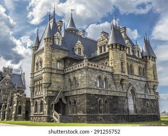 SAMARA, RUSSIA - JUNE 14, 2015: Tourist center Castle Garibaldi in the village Hryaschevka, Samara region, Russia.