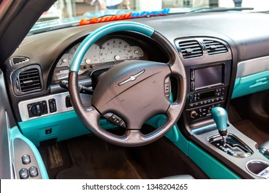 Samara, Russia - March 23, 2019: Interior design of Ford Thunderbird classic car. Ford Thunderbird is an automobile manufactured by the Ford Motor Company