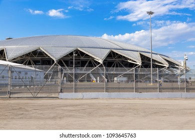 Samara, Russia - May 16, 2018: Samara Arena football stadium. Samara - the city hosting the FIFA World Cup in Russia in 2018