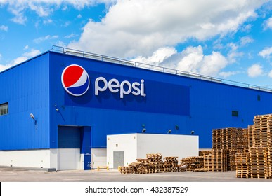 SAMARA, RUSSIA - MAY 22, 2016: Factory of Pepsi Corporation in Samara, Russia. PepsiCo Inc. is an American multinational food, snack and beverage corporation