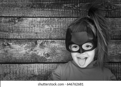 Samara, Russia- May 24,2017; The girl in Batman costume. Batman a popular character Marvel