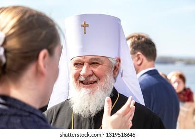 Samara, Russia - May 6, 2018: Metropolitan of Samara and Togliatti Sergius