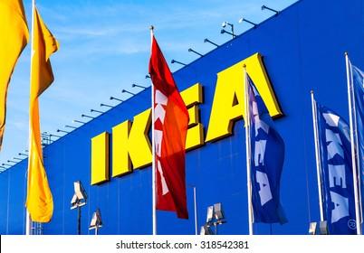 SAMARA, RUSSIA - SEPTEMBER 13, 2015: IKEA Samara Store. IKEA is the world's largest furniture retailer and sells ready to assemble furniture