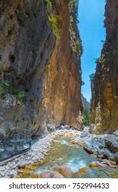 Samaria Gorge. Crete, Greece