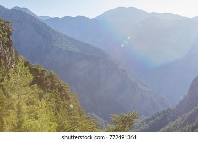 Samaria gorge on Crete, Greece