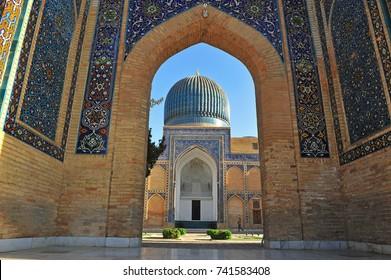 Samarkand: architecture of Gur Emir mausoleum building