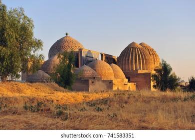 Samarkand: domes of shah i zinda mausoleum