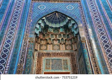 Samarkand: shah-i-zinda complex exterior