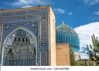 Samarkand, Uzbekistan - Gur Emir mausoleum of the asian famous historical personality Tamerlane or Amir Timur
