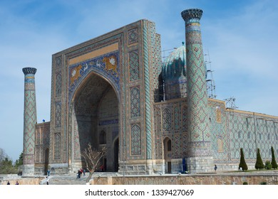 Samarkand. Uzbekistan-March 28, 2013. Architecture and historical sights of Samarkand.