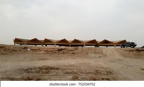 SAMAWA, AL-MUTHANA GOVERNMENT, IRAQ - May 23, 2014: Break place for tourists who visit SAWA lake which is located near the river Euphrates, 23 km west of the  SAMAWA city.
