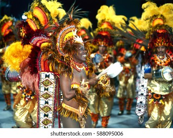 Samba dancer with the Carneval in Rio de Janeiro, Brazil, South America 11. March 2000