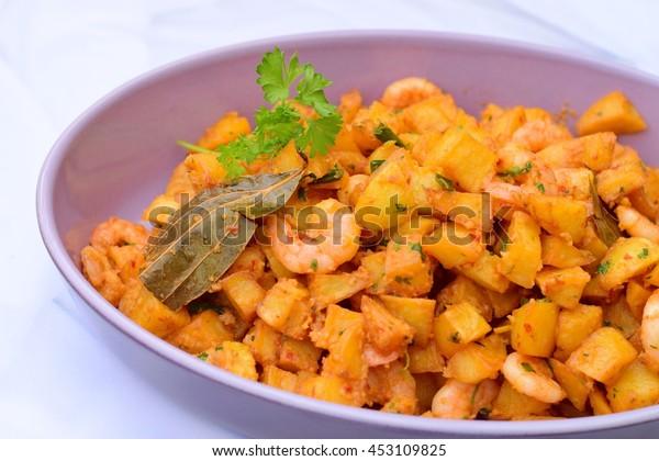 Sambal Goreng Kentang Fried Cubed Potato Stock Photo Edit Now 453109825