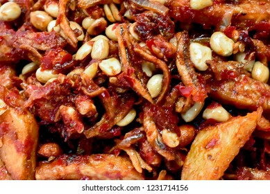 """""""Sambal Goreng Tempe"""" A special fried chillies cooked together with tempe , anchovies, sweet potatoes and peanut."""