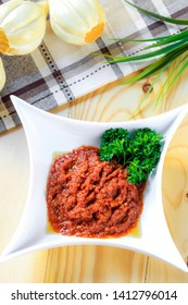 Sambal. Indonesian Traditional Food Made of Hot Spicy Chili