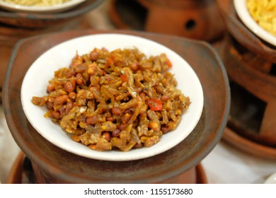 sambal tempe traditional food from java indonesia