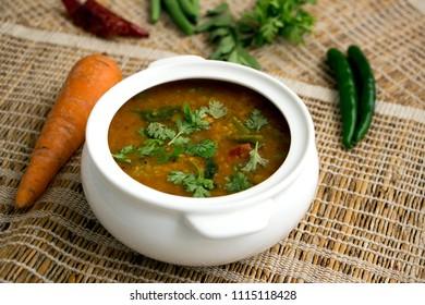 Sambar is a lentil based South Indian stew which is served with idli and vada.