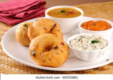 Sambar Vada Indian Dish