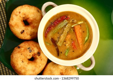 Sambar Vada , Traditionally a South Indian Dish