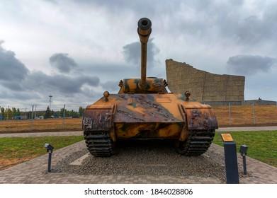 SAMBEK, RUSSIA - CIRCA OCTOBER 2020: Panther Medium Tank