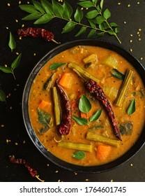 Sambhar, A preperation of Lentils with Vegetables and Tamarind.