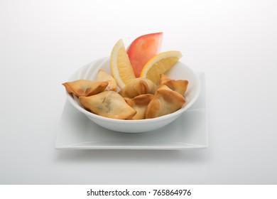 Sambousek is an appetizer in arabian cuisine