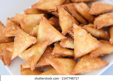 sambousek, filled pastries, a traditional appetizer from the arabic cuisine, selected focus, narrow depth of field