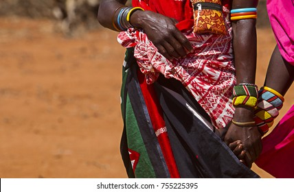 Samburu Women holding hands in Tribal Attire