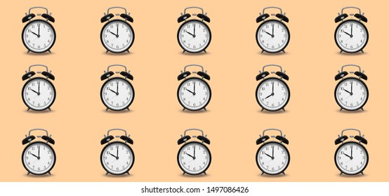 Same clock alarm with one difference , creative idea concept same same but different