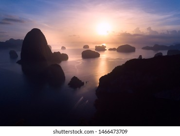 samet-nangshe is a famous place at south of thailand Viewpoint is located at Khlong Khian Takua Thung District, Phang Nga Province is considered one of the most beautiful sunrise viewpoints. Top view