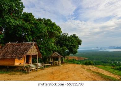 Samet-ngangshe view point at Phang nga bay Thailand.