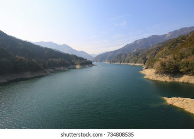 Sameura Dam in Kochi,Japan
