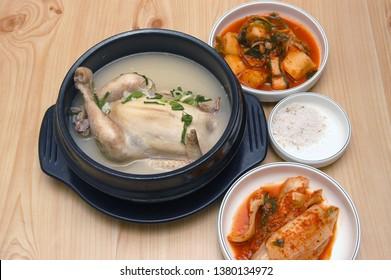 Samgyetang (Ginseng Chicken Soup) - Korean health food