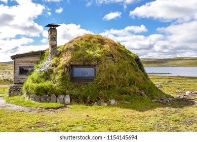 A Sami dwelling in Norway. The Samis are are an indigenous people of northern Europe.