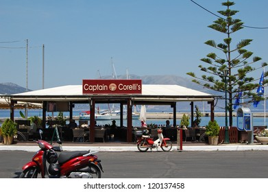 SAMI, KEFALONIA - MAY, 23: Captain Corelli's Bar in the town of Sami in Kefalonia made famous by the film Captain Corelli's Mandolin, May 23, 2009. Many scenes in the film were shot in Sami.