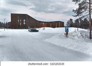 Sami parliament and cultural center in Inari, FInland