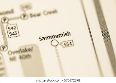 Sammamish Station. Seattle Metro map.