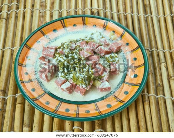 Samoan Coconut Creamed Spinacha?� â?� - Palusami. Samoa cuisine
