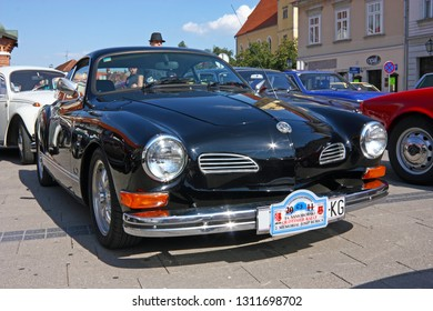 SAMOBOR, CROATIA - JULY 17, 2011: Volkswagen Karmann Ghia, classic car, ''14. Oldtimer Rally'' in Samobor, Croatia