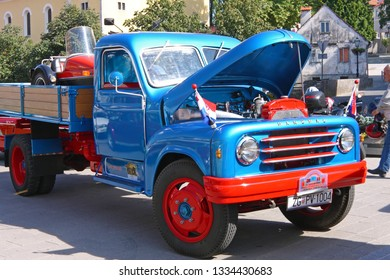 SAMOBOR, CROATIA - JULY 17, 2011: Hanomag truck, ''14. Oldtimer Rally'' in Samobor, Croatia