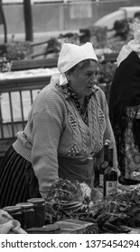 Samobor, Croatia, October 20, 2018. Samobor town celebration anniversary with traditional meals garments and customs