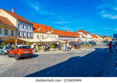 Samobor, Croatia-September 9, 2018: Samobor in Suburb of capital city Zagreb, popular tourist resort in Northern Croatia.