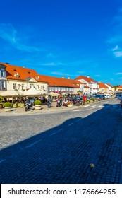 Samobor, Croatia-September 9, 2018: Samobor in Suburb of capital city Zagreb, popular tourist resort in Northern Croatia.